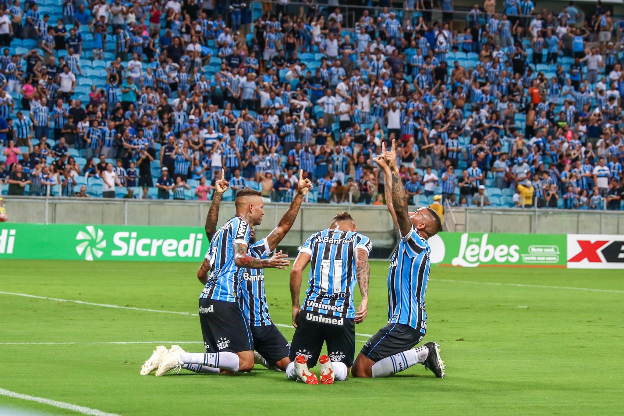 25aa35ef04 Grêmio estreia na Arena com goleada sobre o Juventude