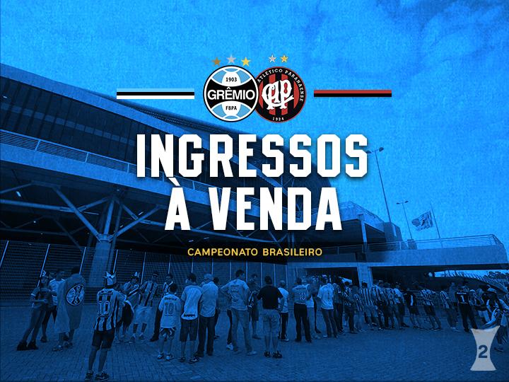 3053c8f94 Ingressos para Grêmio e Atlético-PR